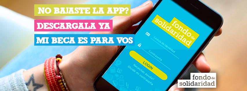 Diseño de Portada para Facebook, lanzamiento de nueva app para becarios.